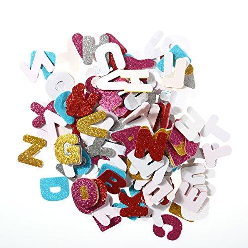 Adornos artesanales Corazon hacer /álbumes de recortes y hacer tarjetas colores mezclados 100pcs Pegatina de corazon,Varios Colores con Purpurina Pegatinas,Pegatinas de Espuma Brillantes Pegatinas