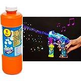"""Seifenblasenpistole """"Bubble Gun"""" mit Licht inkl.1 Liter Seifenblasenflüssigkeit"""