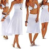 SSITG Sommer Kleid Rock Strandkleid Strandrock Sommerkleid Bikini Beach Strapless Summer Cover-Up Deep-V Swim-Wear Beach-Skirt