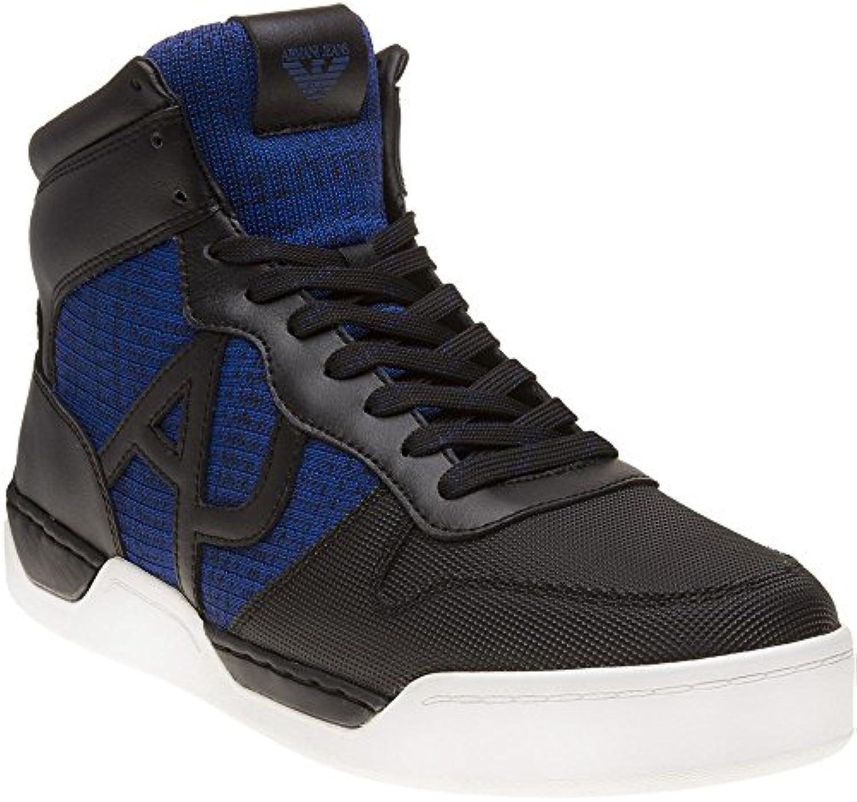 Armani Jeans High Top Herren Sneaker Schwarz