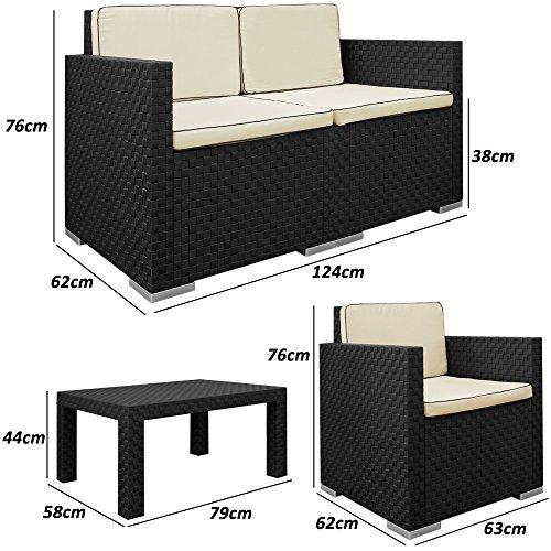 Lounge Set in Rattan-Optik Sitzgruppe Sitzgarnitur Gartengarnitur Gartenset - 6