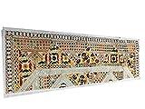 Mogul interior vintage camino de mesa blanco Banjara bordado cuadro tapiz Throw