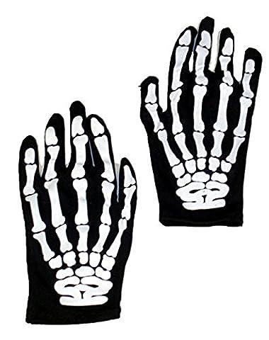 Morbuy Halloween Skeleton Gloves Adult Halloween Dance Party Costume Gloves(1 pair)