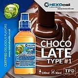 E LIQUID PARA VAPEAR - 30ml Chocolate Type #1 (Chocolate con leche belga) Shake and Vape E Liquido para Cigarrillo Electronico, Shake n Vape Eliquido sin Nicotina