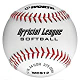 Worth WCS1230,5cm Ufficiale Softball Softball League Stamped Bianco (Confezione da 12)