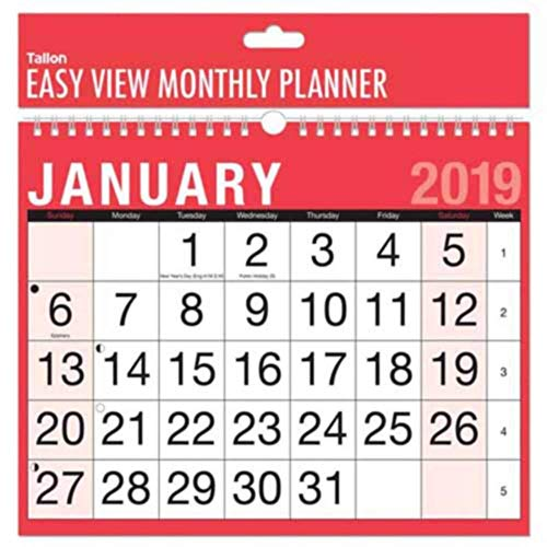 2019 A4 Easy Month To View Spira...