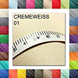 Meterweise OXFORD 600D Farbe 01 | CREMEWEISS | Polyester