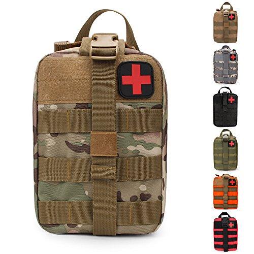 L'astuccio per il kit di pronto soccorso della HX OUDOORS è una capiente e organizzata borsa medica compatibile con altri strumenti che presentano il sistema MOLLE ed è stata progettata per consentire una rapida rimozione. Il sistema MOLLE permette d...