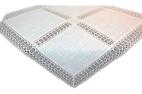 Tischdecke Decke Mitteldecke Spitzendecke Eckig Tischdekoration Spitze (Mitteldecke 85x85 cm Quadratisch)