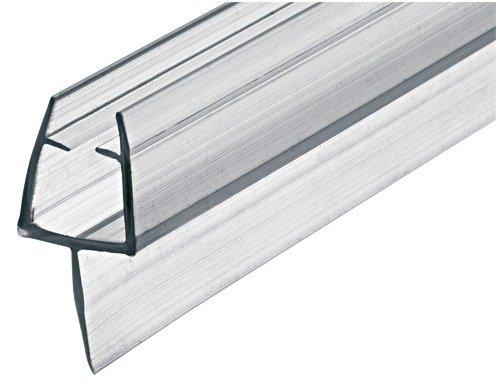 GedoTec Glastürdichtung 200 cm Duschtür-Dichtung DD-03 für Duschkabinen & Glastüren | Duschdichtung zum Abdichten vom Boden | PVC Transparent | Lippendichtung für Glasdicke 8 - 10 mm | Markenqualität für Ihren Wohnbereich