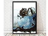 TinyTami - Kunstdruck Drachenei - Drachenposter - A4 oder A3 - Aquarell Handmade