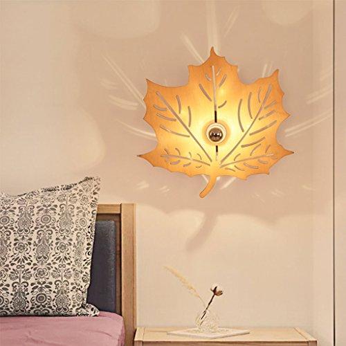 WYQLZ Creative Ombre Applique Chambre Chevet Chaud Romantique Hôtel Allée Balcon Décoration Nuit Lumière ( Conception : Maple leaves )
