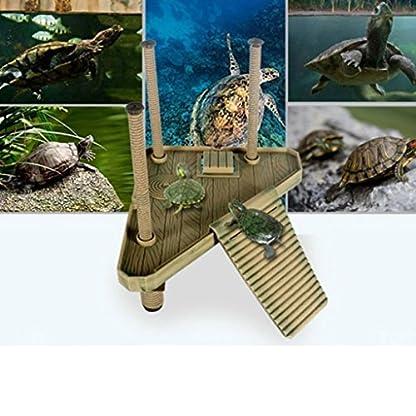 Soccik Reptile Turtle Frog Turtle Platform Pier Durable Plastic Turtle Roof Terrace Floating Pier Floating Rock Aquarium… 4
