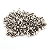 100pcs 4x5mm Taille Cone Forme métalliques Goujons Rapid Rivets Tone Leather Craft DIY