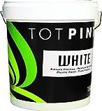 Totpint - Totpint white - pintura plástica blanco mate interior, tamaño 4 l