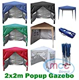 Mcc@home Premier 2x2m Waterproof Pop-up Gazebo with Silver Protective Layer Marquee Canopy (WS) (Blue)