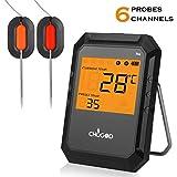 Termometro con Sonda , WEINAS Bluetooth con 2 Sonde Wireless Display Digitale Carne Alimenti...