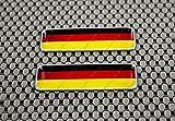 Deutschland Flagge 3D Aufkleber Aufkleber Set