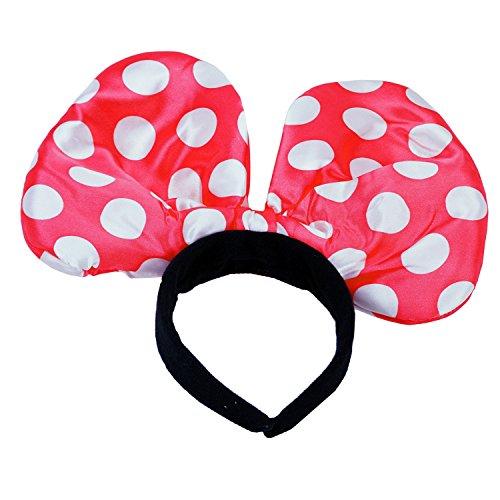 Reifen Haare Fasching Karneval Punkte Maus Ohren rot (Mickey-mouse-mützen Mit Ohren)