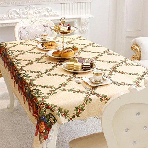 UChic 1 STÜCKE 72''X60''Home Küche Esstisch Dekorationen Weihnachten Tischdecke Rechteckige Bettwäsche Party Tischdecken Weihnachtsschmuck (Küche Vorhänge Cupcakes)