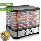 Hopekings Deshidratador de Alimentos 7 Pisos Bandejas, Deshidratador de Frutas y Verduras con Temperatura Ajustable de 35-70 Grados,BPA Free, 250W