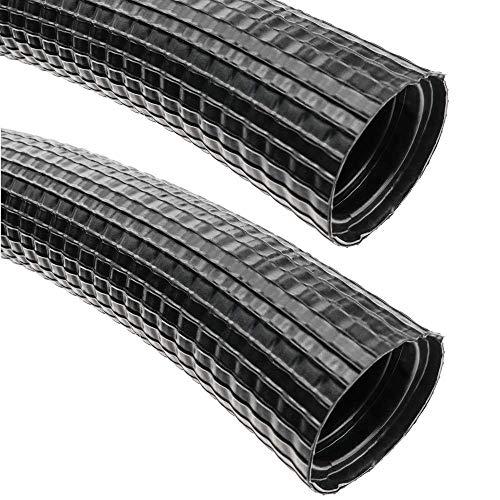 BeMatik - Flexrohr Kunststoff DMR flexiblen Wellpappe Rohr Schlauch aussen M-32 23mm 25m -
