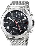 Tommy Hilfiger Herren Multi Zifferblatt Quarz Uhr mit Edelstahl Armband 1791342