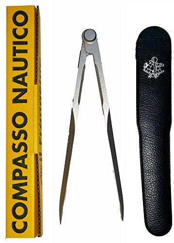 Il Frangente NF/30 Compasso Nautico in Metallo Satinato a Punte Fisse, 18 cm