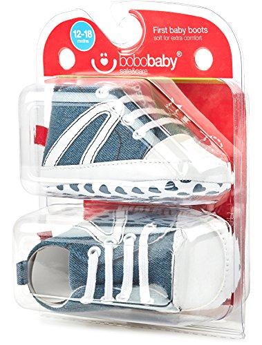 Bobobaby Baby Mädchen und Jungen Bobobaby Babyschuhe Hausschuhe BL-106 Jeans