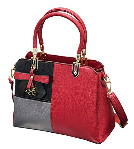 Yan Show, Borsa a tracolla donna nero Black large Red