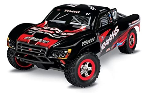 Traxxas TRX70054-1 - Slash Brushed RTR Short Course Truck E-Revo 1:16, Black