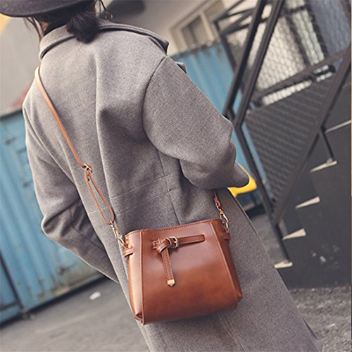 meizu88, Borsa a tracolla donna Light Brown
