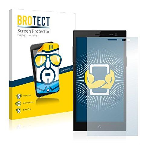 BROTECT Schutzfolie kompatibel mit Simvalley Mobile SPX-34 [2er Pack] klare Bildschirmschutz-Folie