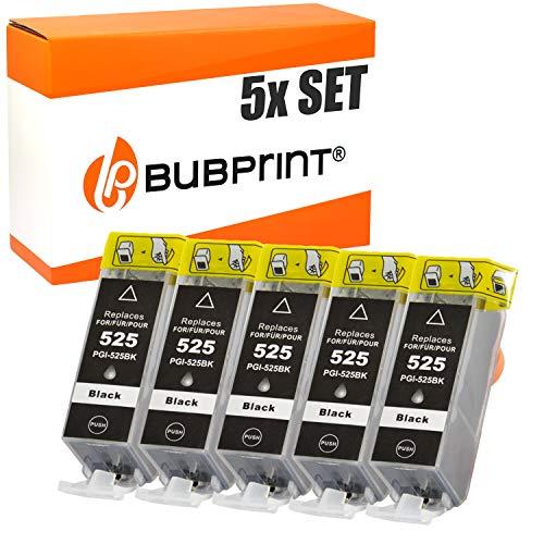 5 Bubprint Druckerpatronen kompatibel für Canon PGI-525PGBK PGI 525 BK für Pixma IP4850 IP4950 IX6550 MG5150 MG5250 MG5350 MG6150 MG6250 MG8150 MG8250