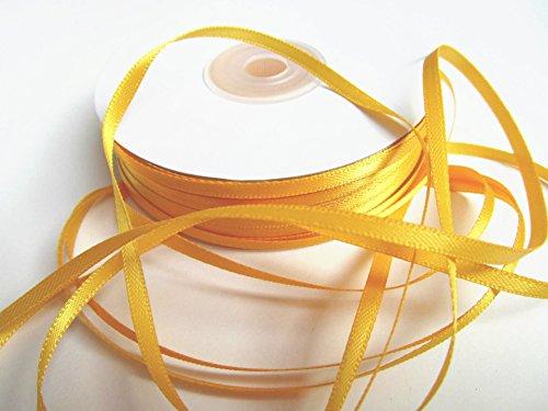 Schleifenband Geschenkband Satinband Dekoband Hochzeit Weihnachten (Gelb) (Gelbe Bänder)
