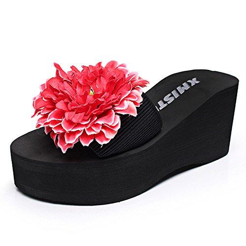 Estate Sandali 7 cm Pantofole di moda estiva Pantofole femminili antiscivolo a pelo alto Colore / formato facoltativo #6