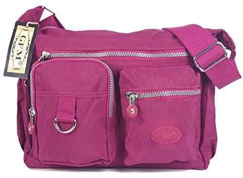 GFM Fashion, Borsa a tracolla donna Small Style 5 - Fuchsia (47CRTGLB)