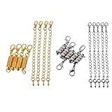 Baoblaze 18pcs Fermoir Magnétique de Collier Bracelet Accessoire pour Bijou DIY Maison Bijouterie