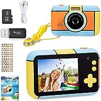 YunLone Appareil Photo pour Enfant 24MP Selfie Caméra Numérique 1080P HD Caméscope Vidéo pour Enfants avec Carte SD 32G…