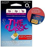 O2 (2G/3G/4G) UK & EUROPE Trio SIM PAYG �?20 (convert to Bundle - 1000 mins, 2000 Texts +6GB Data) + International Calling Card - (Love2surf RETAIL PACK)