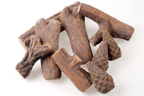 Keramikholz 9-teilig, Holzimitat aus Keramik für Ethanolöfen, LILIMO ®
