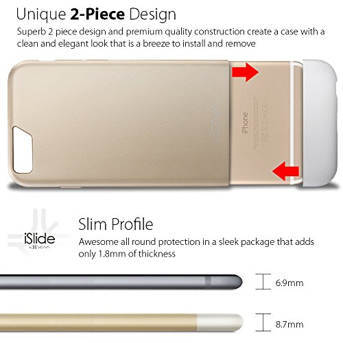 "Apple iPhone 6S 6 hülle, Vena (iSlide) [Dockingstation Freundlich] Schlank Passen Hart PolyCarbonate Case Schutzhülle für Apple iPhone 6 / 6S (4.7"") (Champagne-Gold / Weiß) Champagne-Gold / Weiß"
