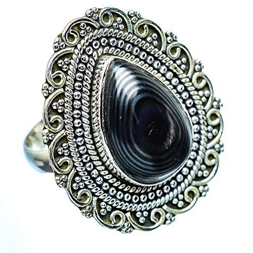 Psilomelane, Psilomelan 925 Sterling Silber Ring 9 (Ana Silver Co Ringe)