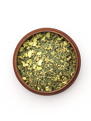 Japanischer Grüner Tee Genmaicha 'n' Matcha, BIO, Premium. 100g, lose, nicht aromatisiert. Kleiner Tee-Garten Präfektur Yame, Fukuoka. Feinster Sencha, belebender Matcha, Natur-Reis, geröstet und gepufft.