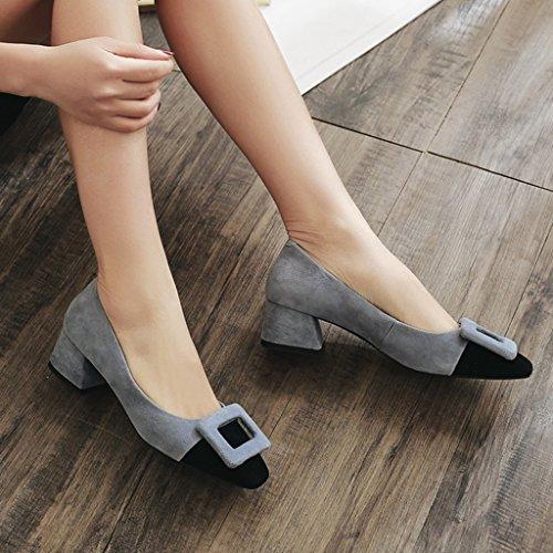 Lvzaixi Nouvelles Femmes Low Mid Heel Block Strappy Sandales ( Couleur : Rose , Taille : 34 )
