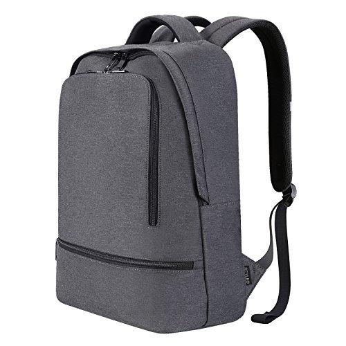 REYLEO Business Rucksack Herren Wasserdichte 14.1 Zoll Laptop Tasche Backpack Für Arbeit Und Stadt Grau RB03