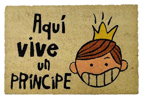 Felpudos Originales con Diseño Aquí Vive Un Príncipe, Coco, 60 x 40
