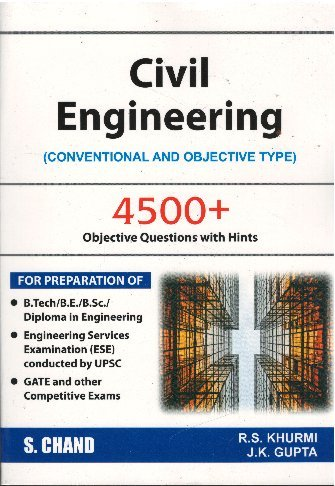 Civil Engineering (Convectional And Objective Type) 4500+ Objective Questions with Hints