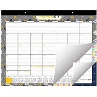 Calendario de Escritorio 2018/2019 por Belle Vous Planificador Grande de Pared y Escritorio Agenda Planificador Diciembre 2018 - Diciembre 2019 - Calendario Mensual Académico de Escritorio Oficina