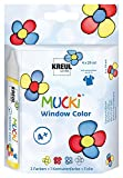 Kreul Mucki 24450 - Window Color Set, Farbe und Folie, 4 x 29 ml